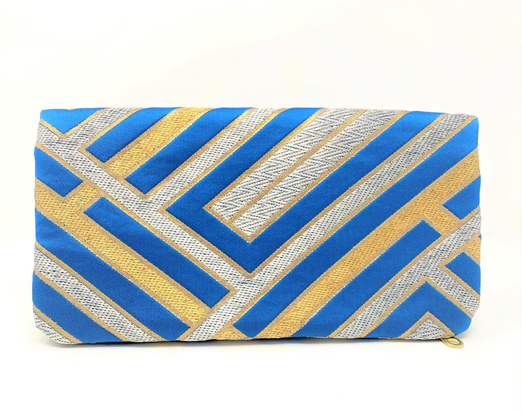 Blue-tiful -  Handmade Foldover Clutch purse