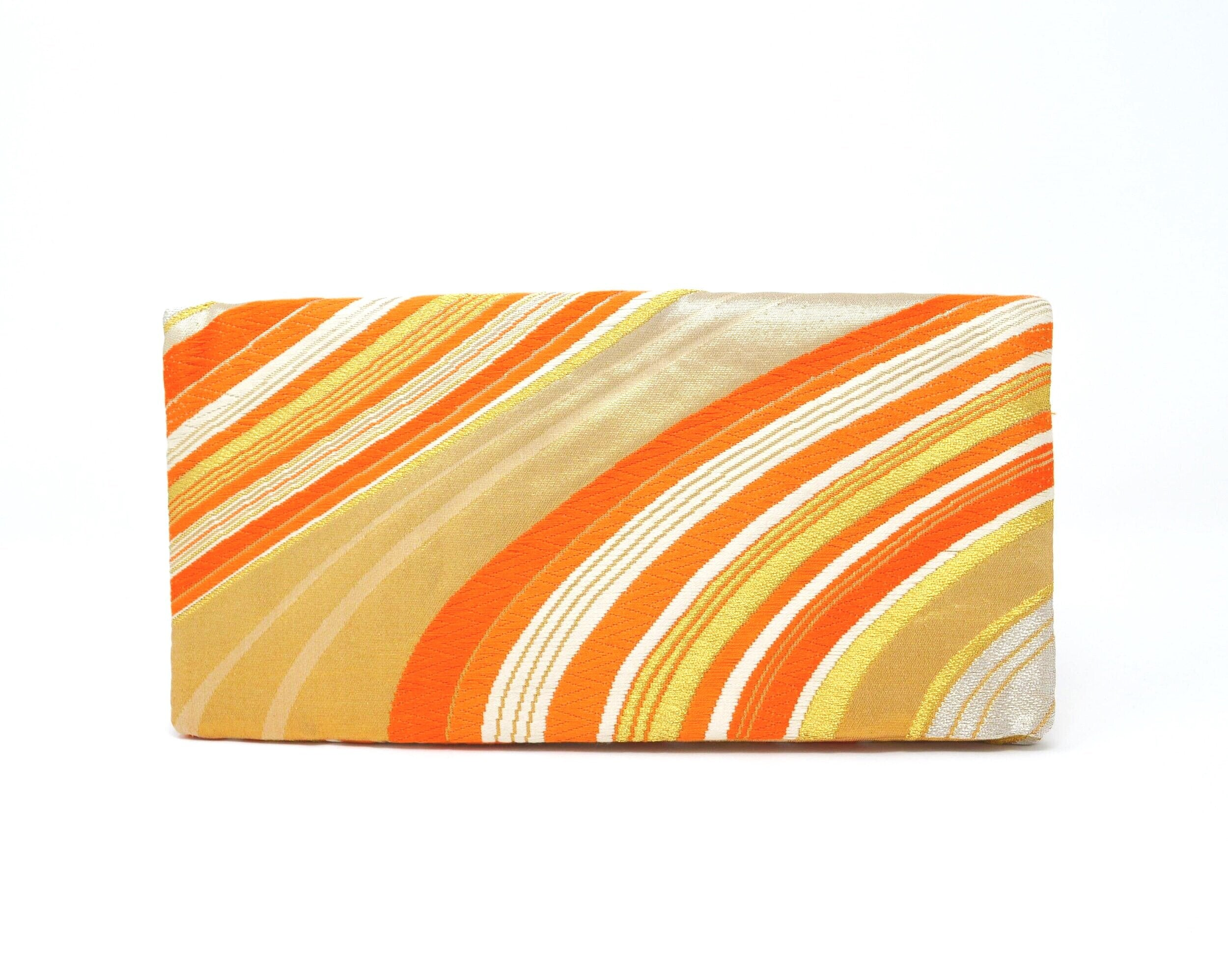 Creamsicle - Handmade Envelope Clutch Purse