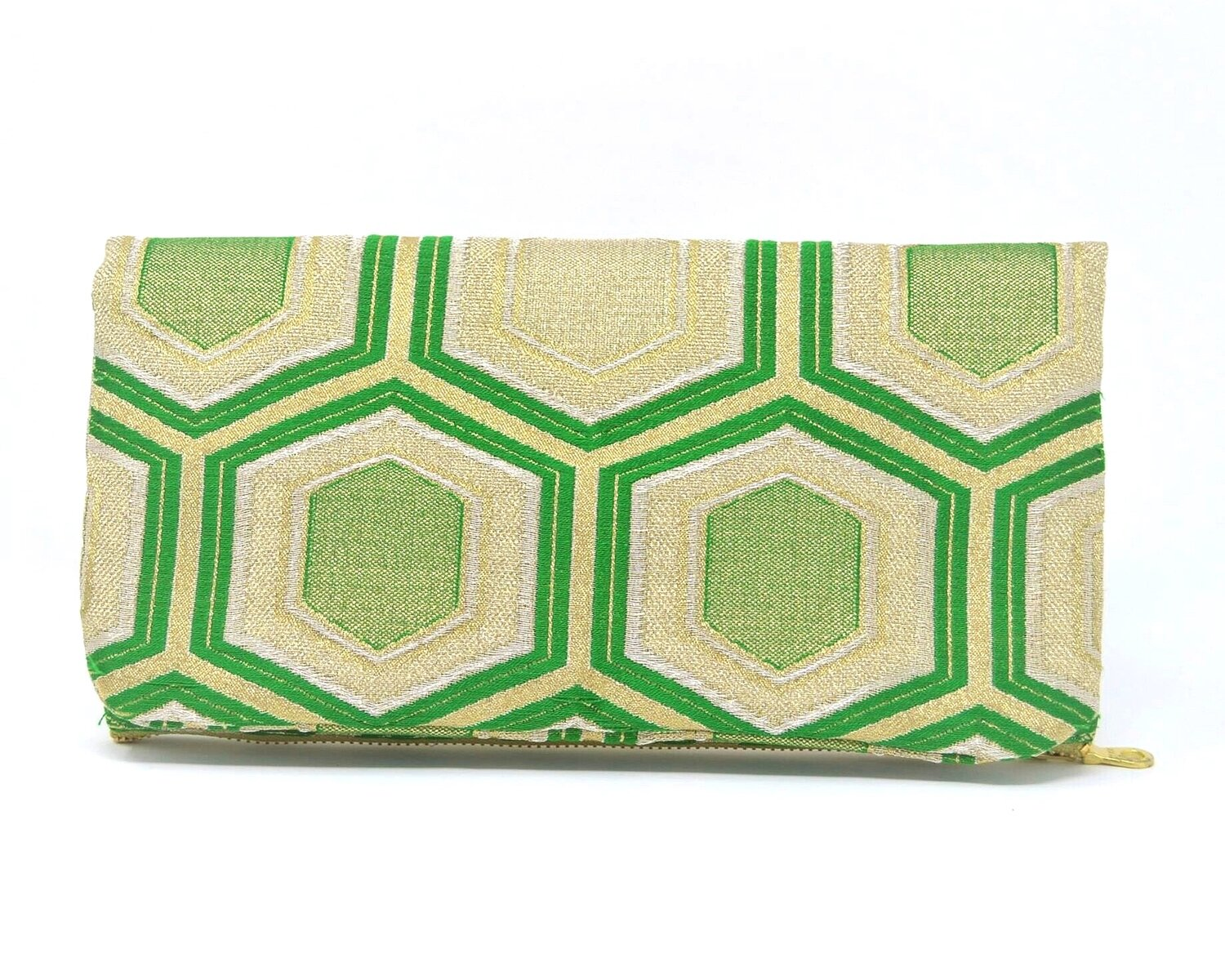 Evergreen - Handmade Foldover Clutch Purse