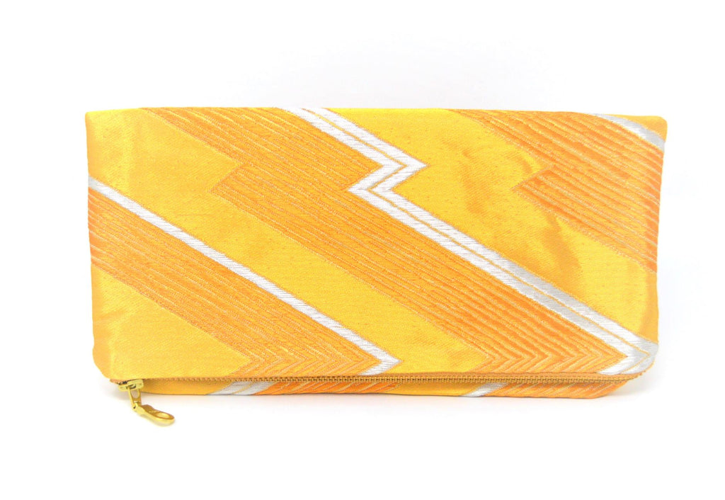 Golden Glow - Handmade Foldover Clutch Purse