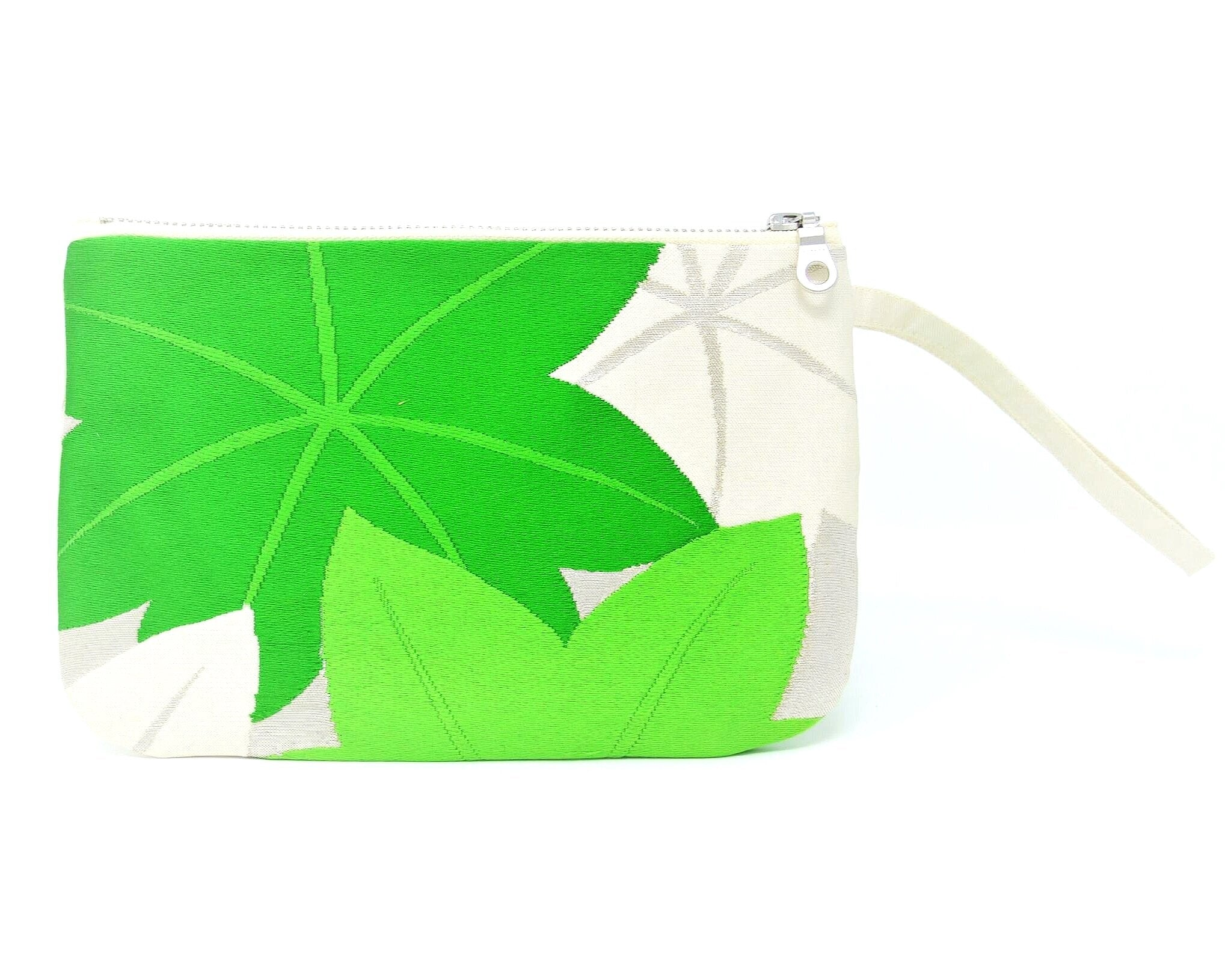 Maple Sugar - Handmade Vintage Silk Wristlet