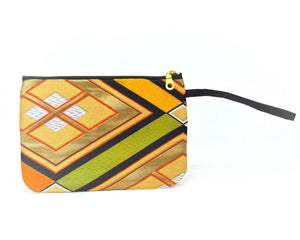 Stained Glass - Handmade Vintage Silk Wristlet