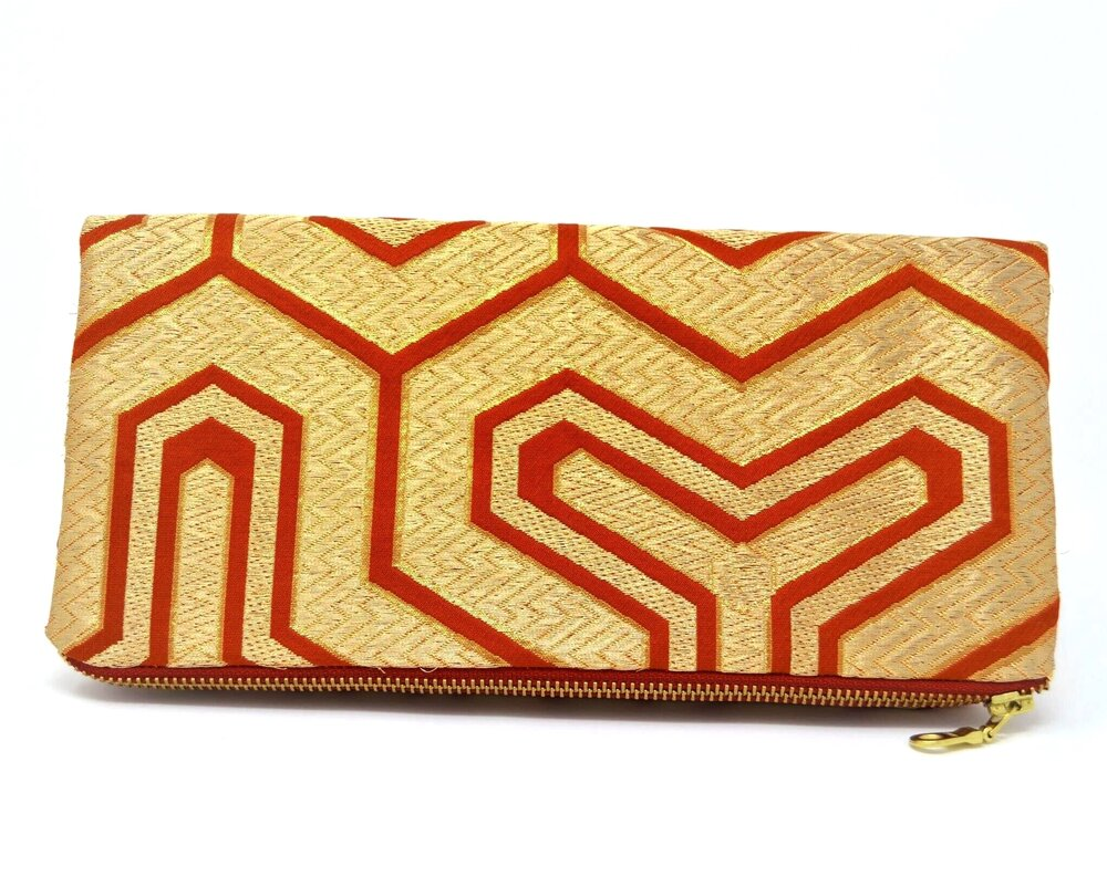 Gold Rush - Handmade Foldover Clutch Purse