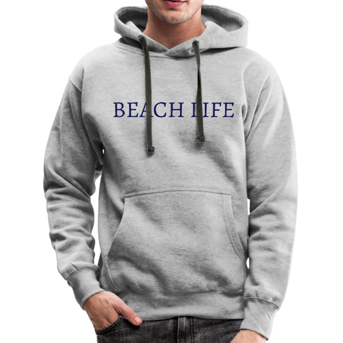 Beach Life-Make Waves 2-sided Men's Hoodie