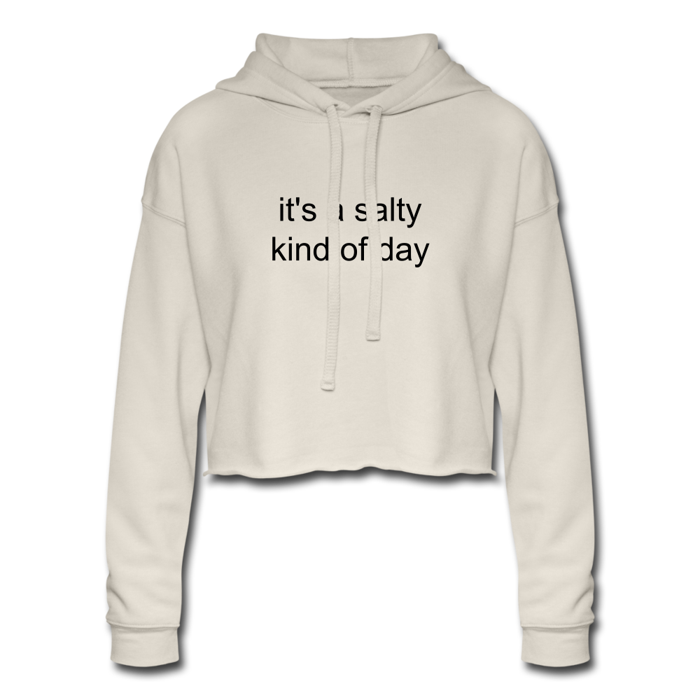 It's a Salty Kind of Day-Women's Cropped Hoodie