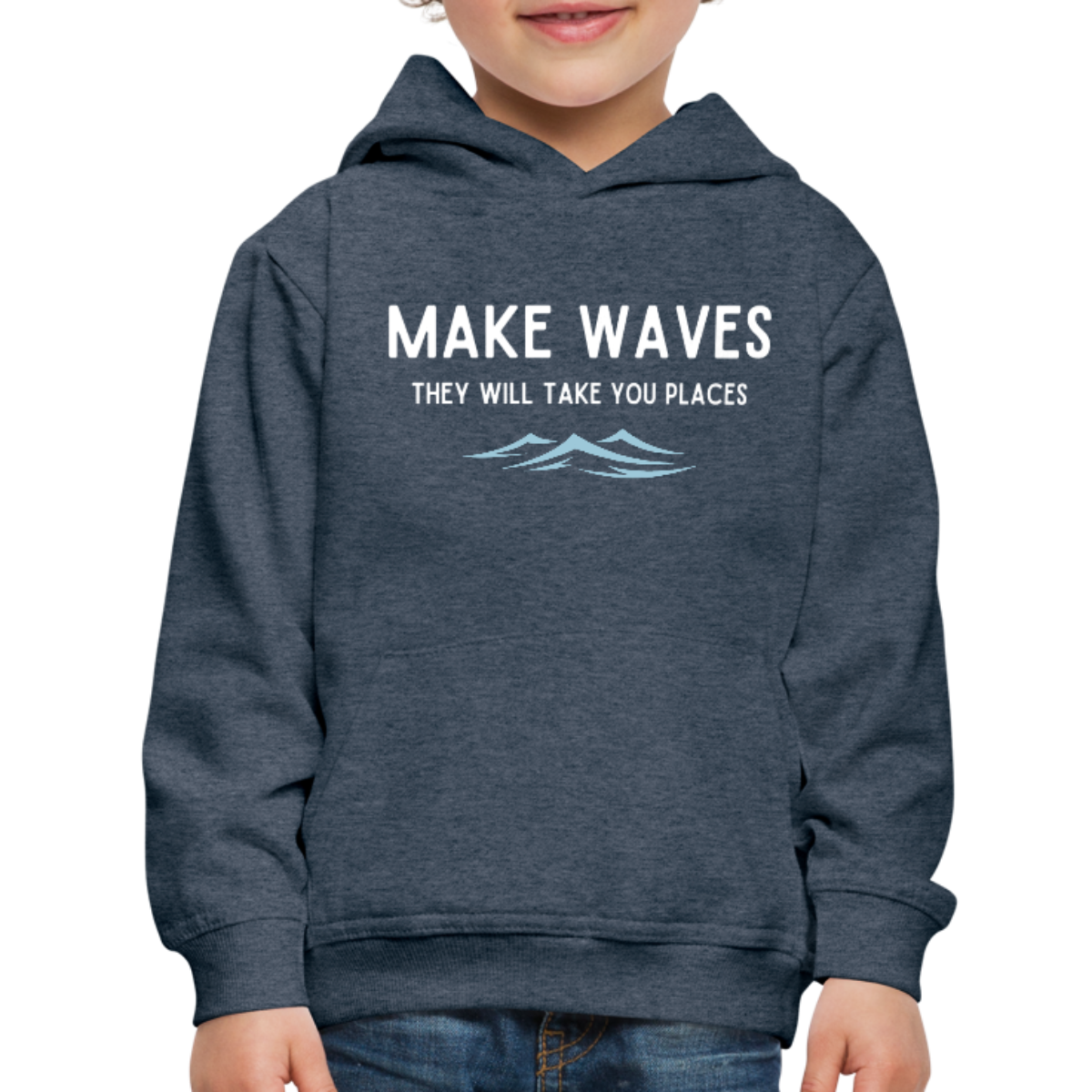 Make Waves, they will take you places - Kids' Hoodie