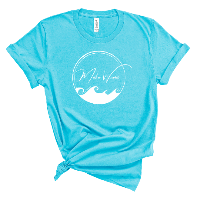 Make Waves-2-sided T