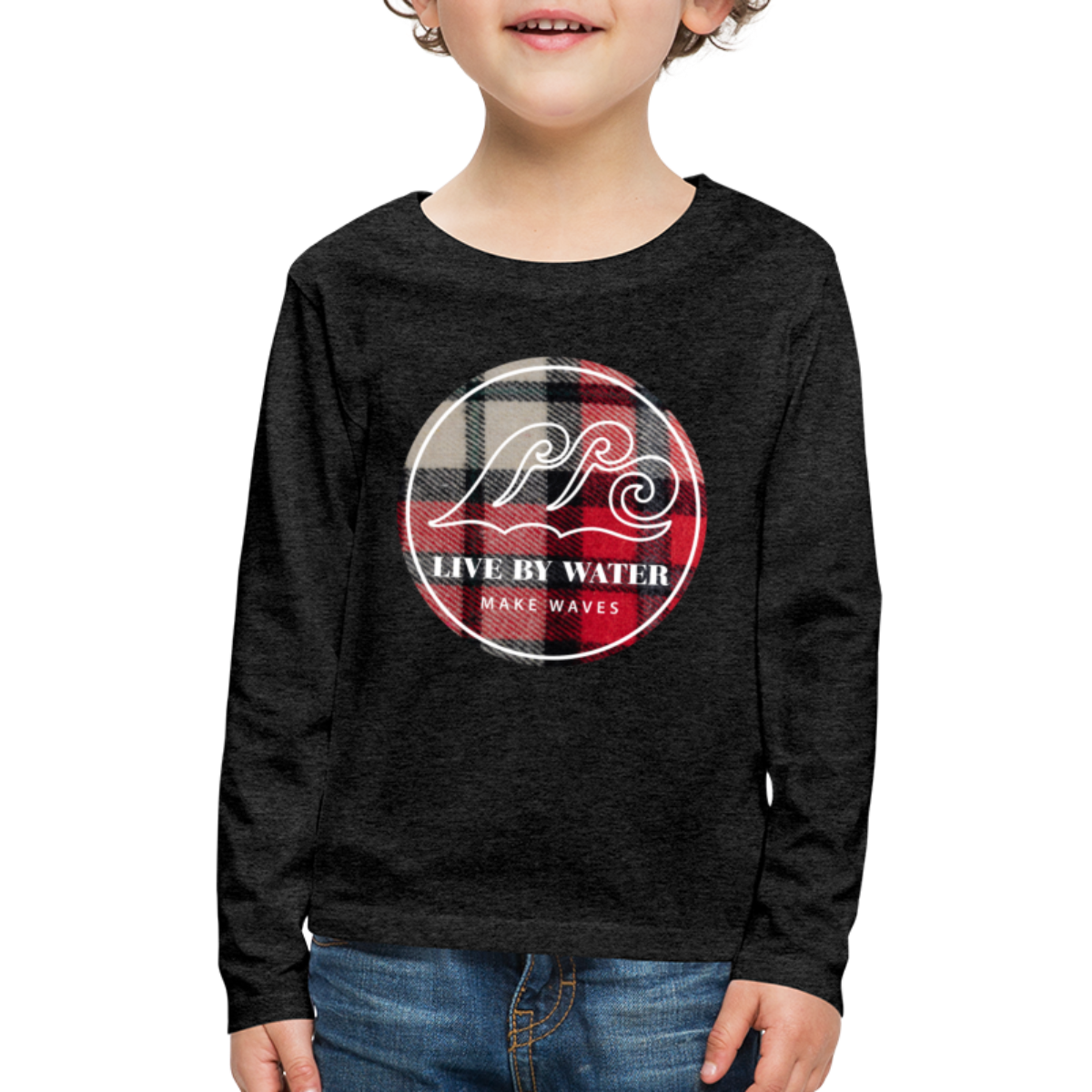Red Flannel-Kids Long Sleeve T