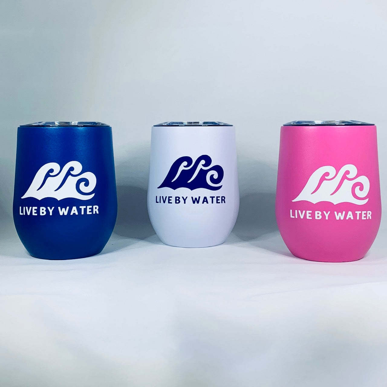 Wine Tumbler-Live by Water Logo