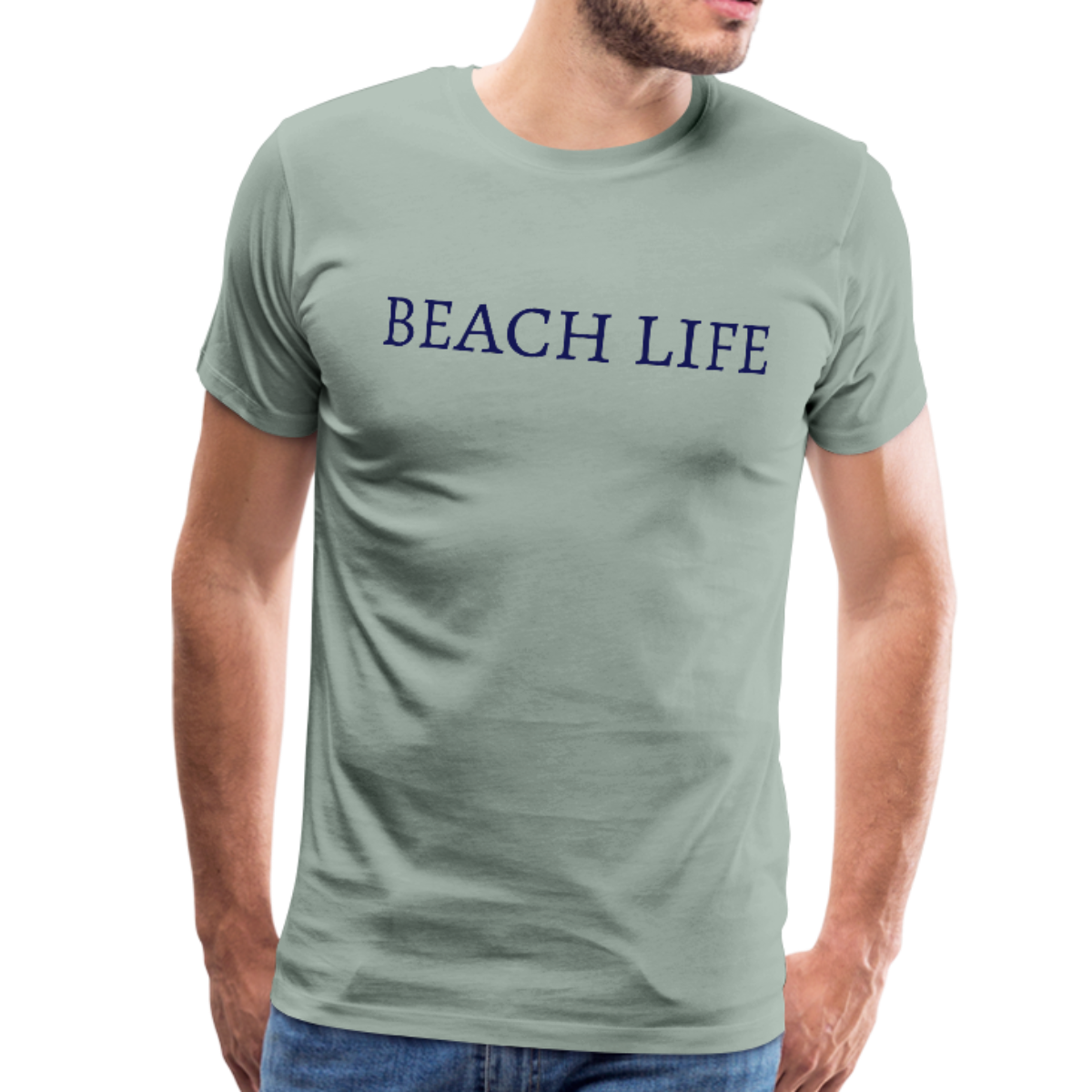 Beach Life-Make Waves 2-sided Men's T