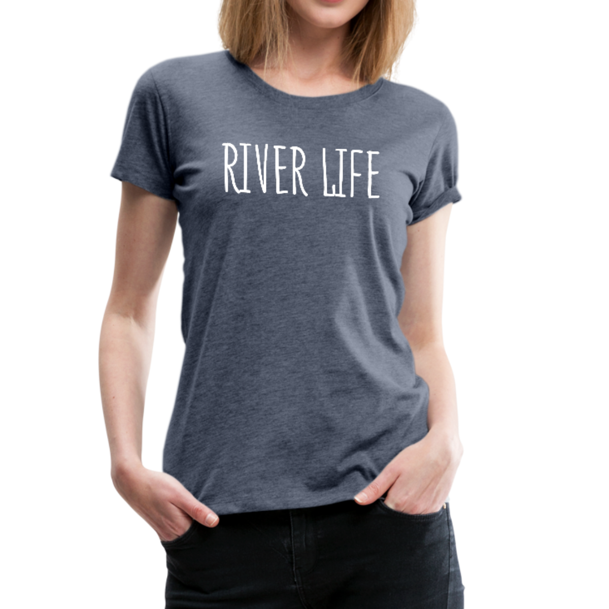 River Life-Women's 2-sided Crew Neck T