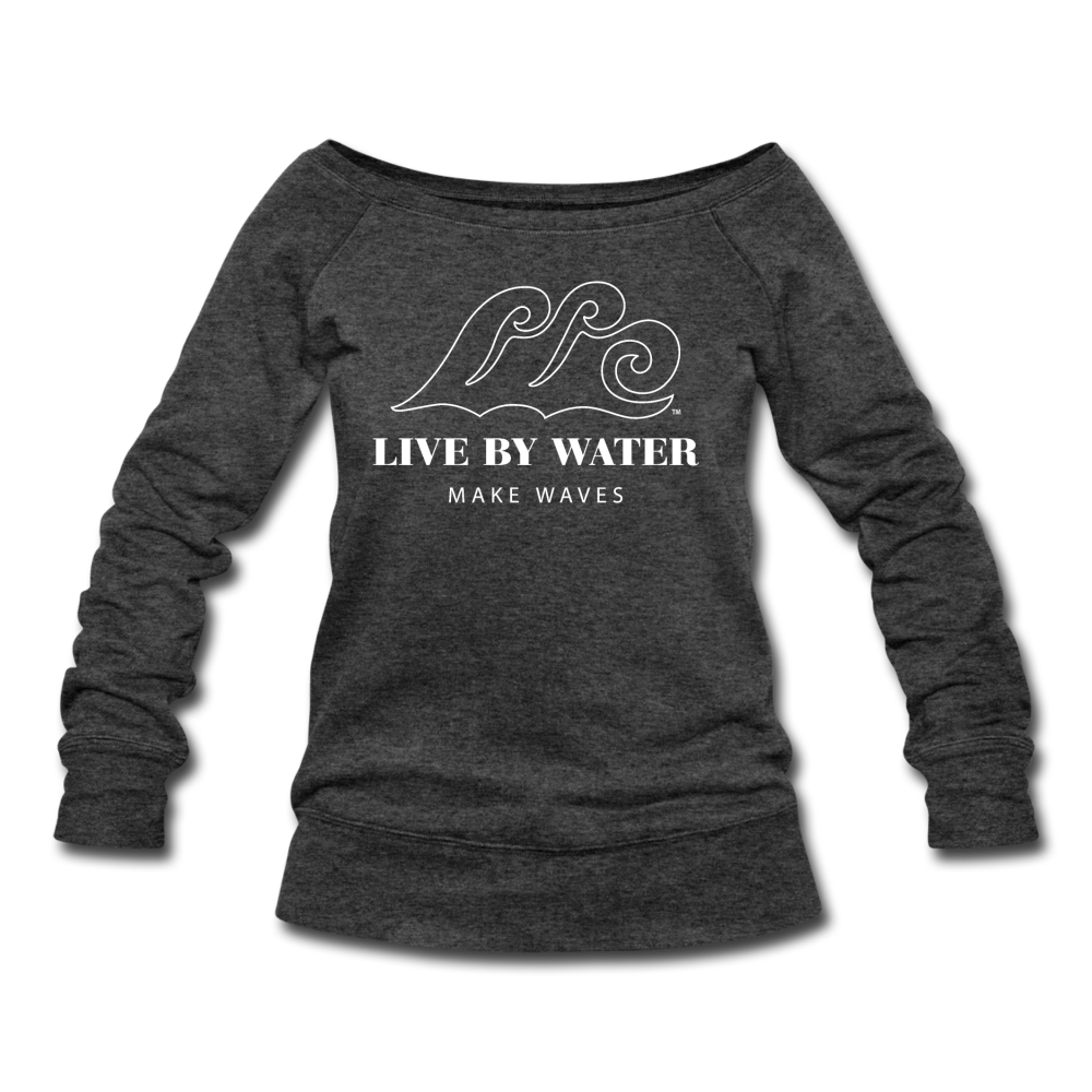 Classic Logo - Women's Wide neck Sweatshirt - heather black