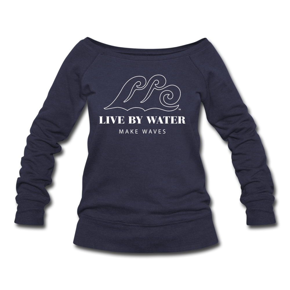 Classic Logo - Women's Wide neck Sweatshirt - melange navy