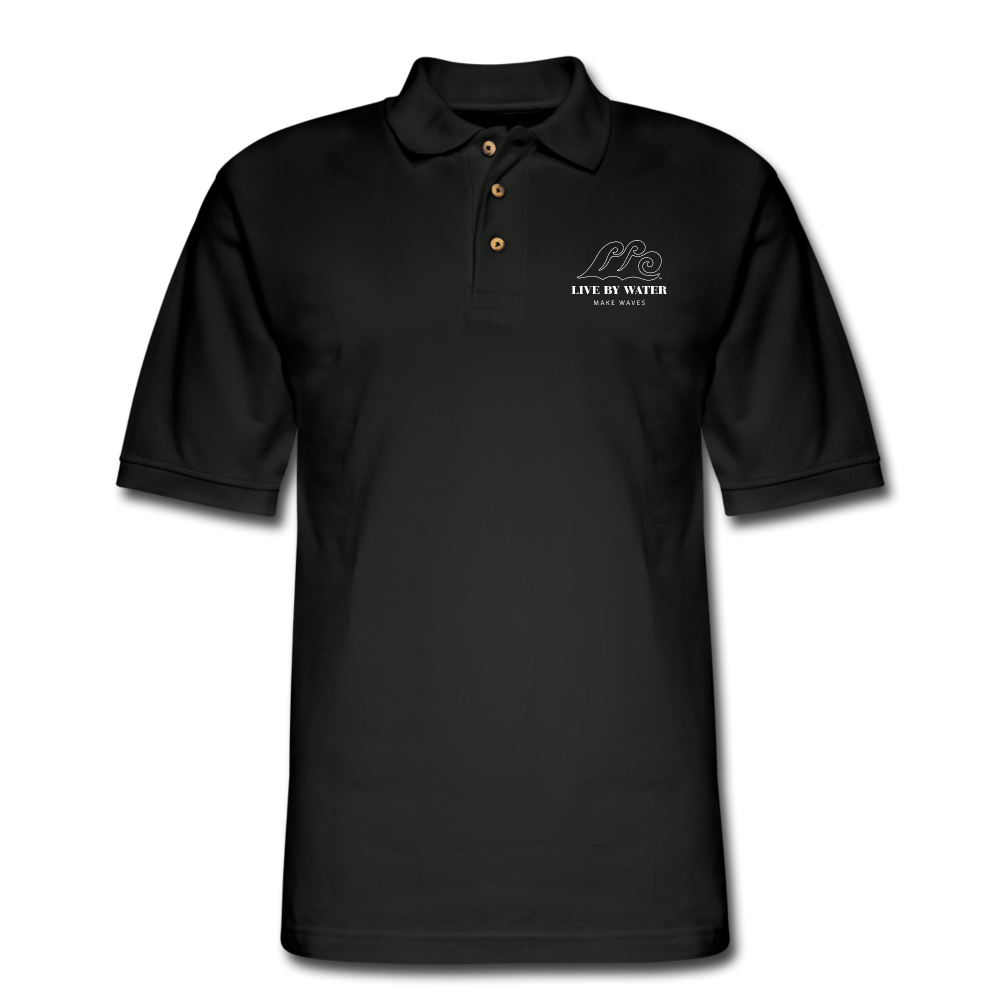 Our Classic Logo on Mens Polo Shirt - black