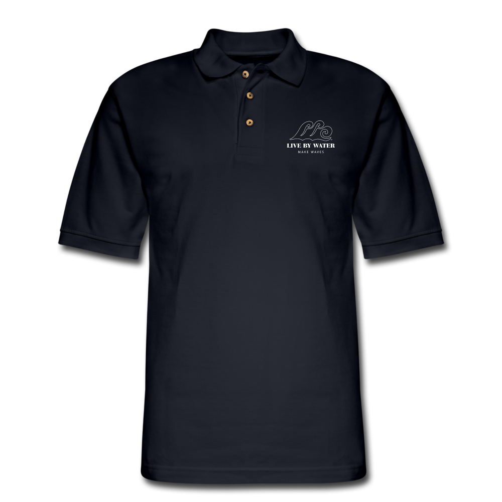 Our Classic Logo on Mens Polo Shirt - midnight navy