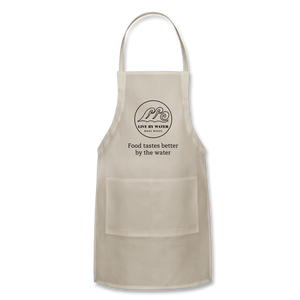 Food tastes better... Classic Logo Apron - natural