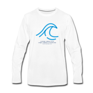 Rogue Wave -Men's  Long Sleeve T-Shirt - white