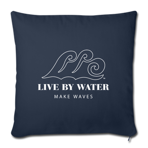 Open image in slideshow, Live by Water Classic Logo - Navy Throw Pillow Cover - navy