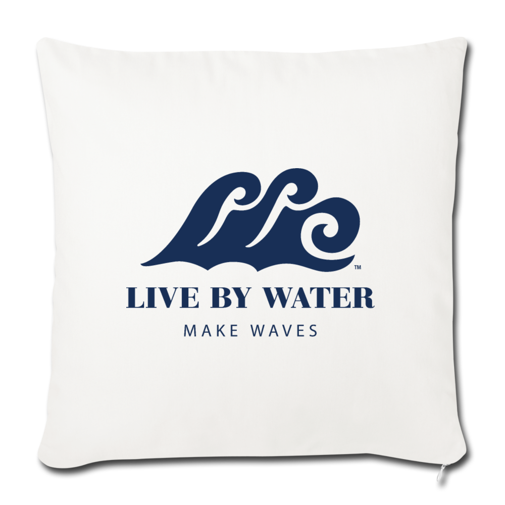 Live By Water - Throw Pillow Cover - natural white