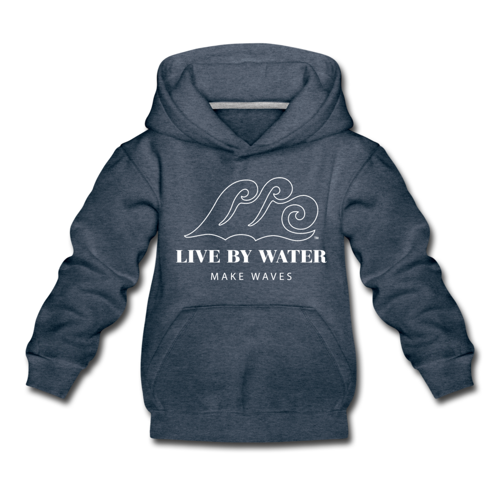 Classic Logo - Kids' Hoodie - heather denim