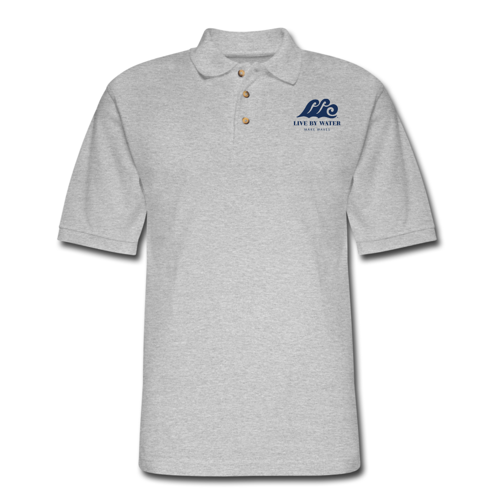 Classic Logo-Mens Polo Shirt - heather gray