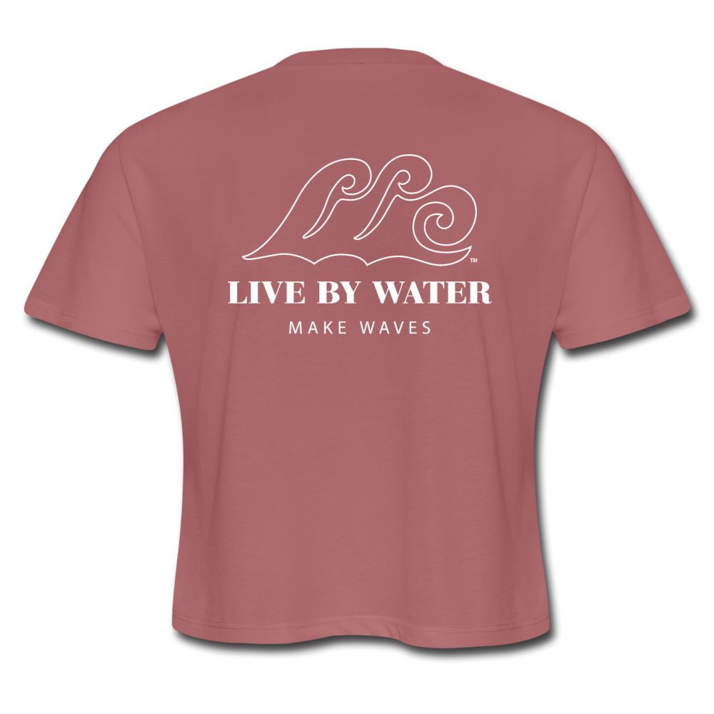 "Victoria ""Make Waves"" Women's Cropped T - mauve"