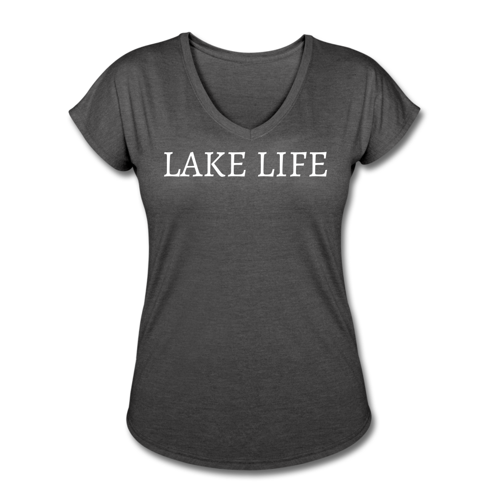 Lake Life-Live by Water 2-sided Women's T - deep heather
