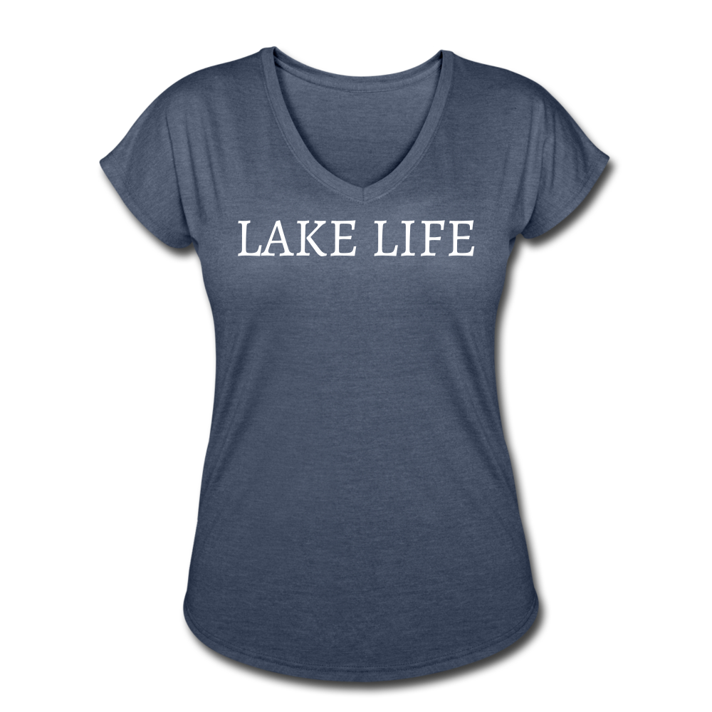 Lake Life-Live by Water 2-sided Women's T - navy heather