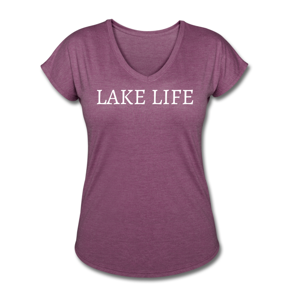 Lake Life-Live by Water 2-sided Women's T - heather plum