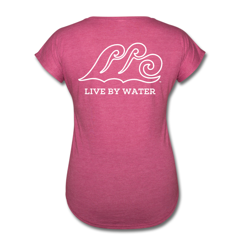 Lake Life-Live by Water 2-sided Women's T - heather raspberry