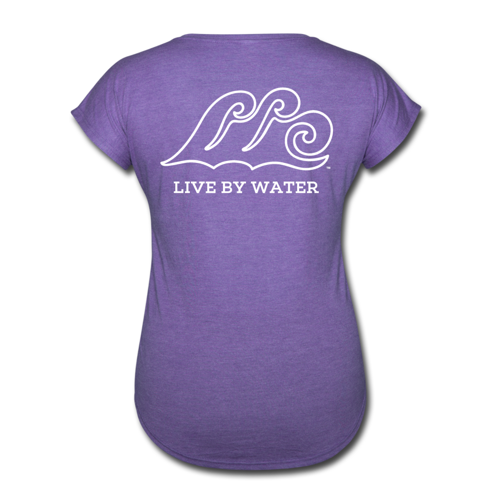 Lake Life-Live by Water 2-sided Women's T - purple heather