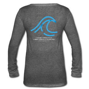 Rogue Wave-Women's Long Sleeve T-shirt - deep heather