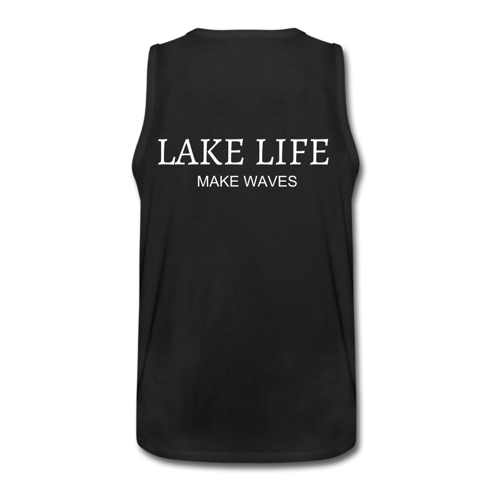 Lake Life-Make Waves Men's' Tank - black