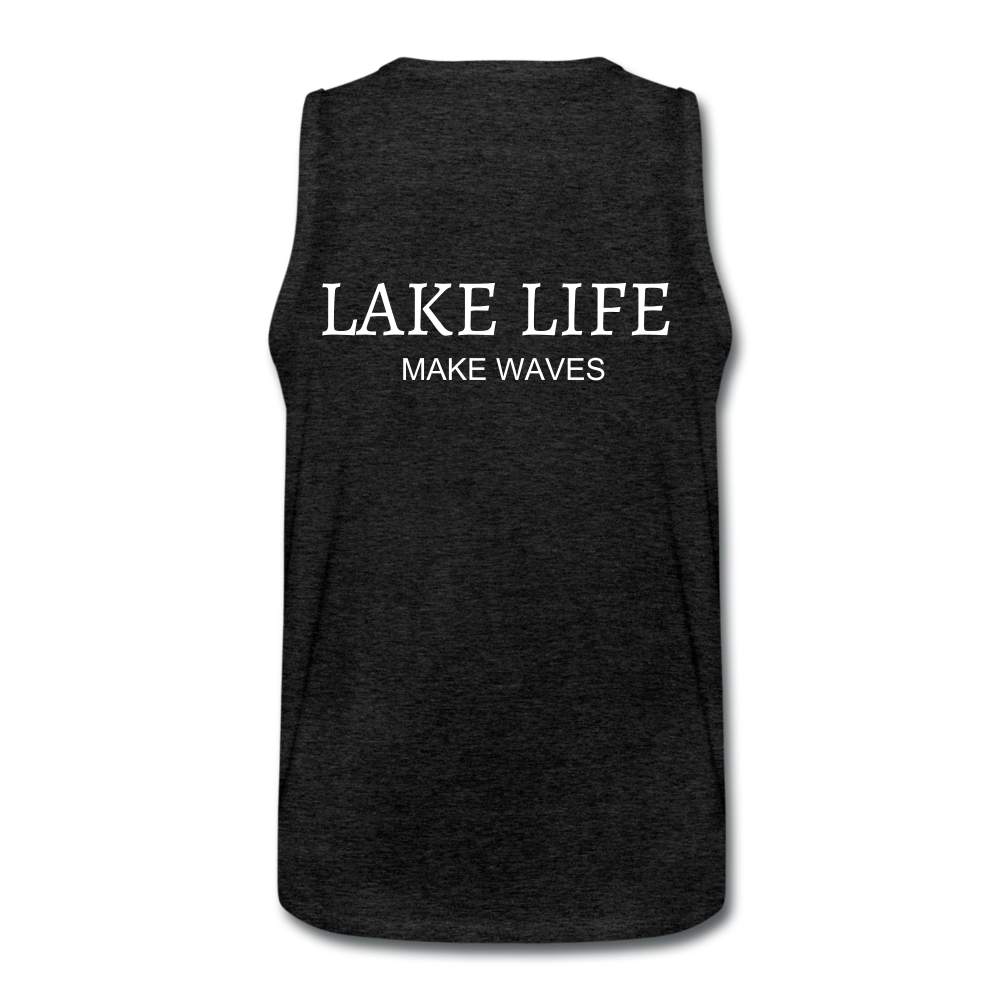 Lake Life-Make Waves Men's' Tank - charcoal gray