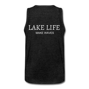 Open image in slideshow, Lake Life-Make Waves Men's' Tank - charcoal gray