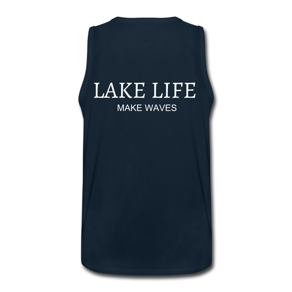 Lake Life-Make Waves Men's' Tank - deep navy