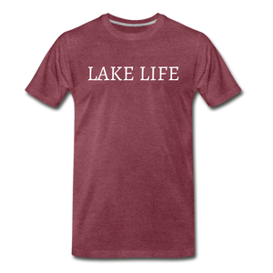 Lake Life-Live by Water 2-sided T - heather burgundy
