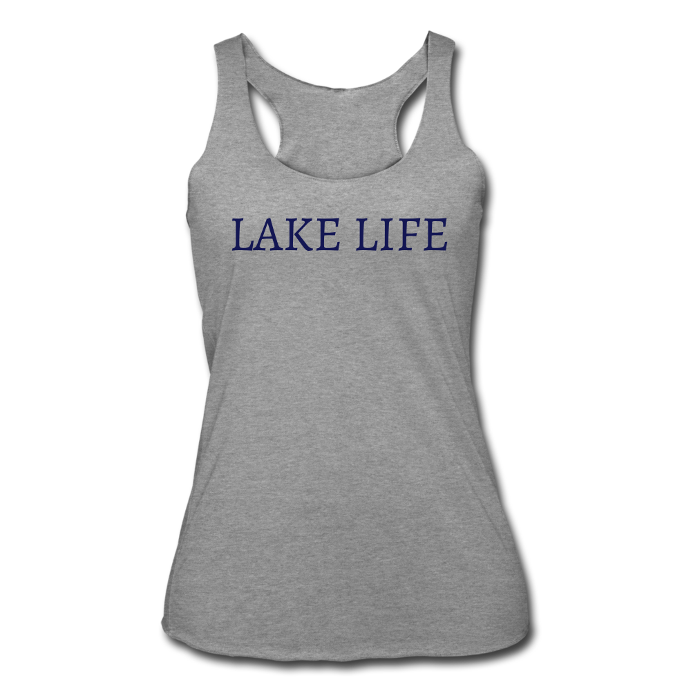 Lake Life-Make Waves 2-sided Women's Tank - heather gray