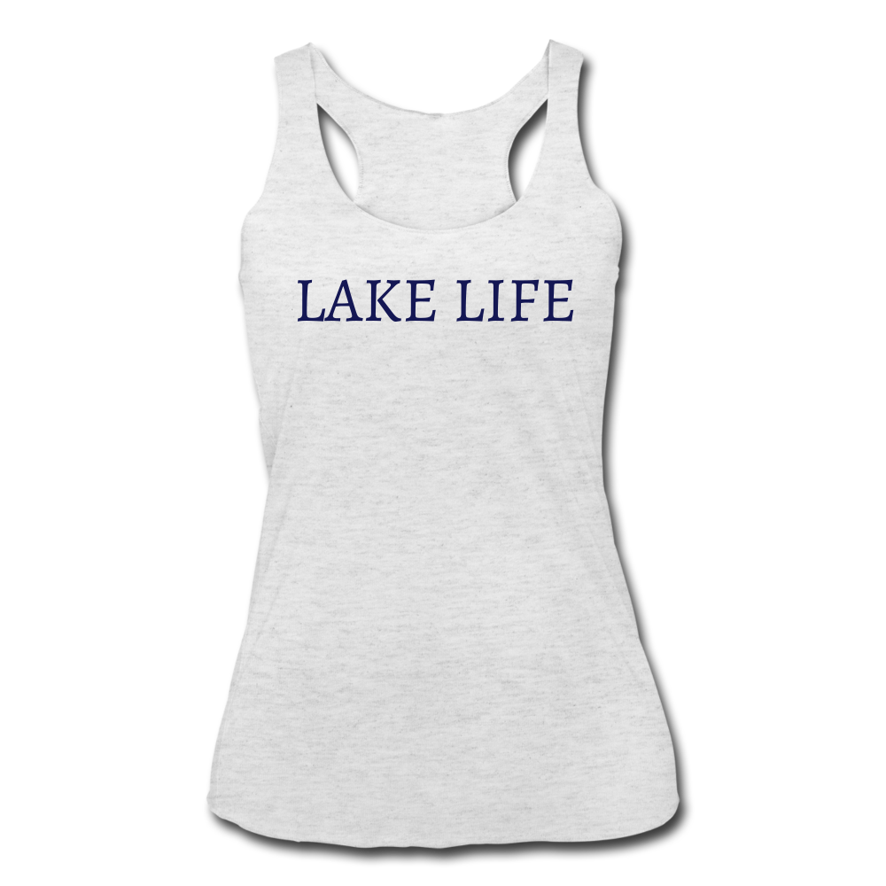 Lake Life-Make Waves 2-sided Women's Tank - heather white