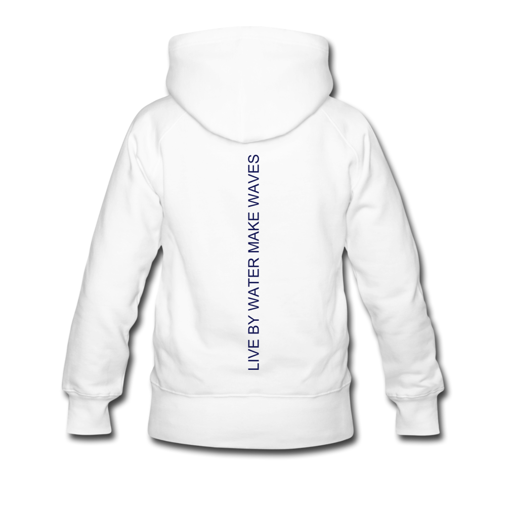 Lake Life-Live by Water Women's Hoodie - white