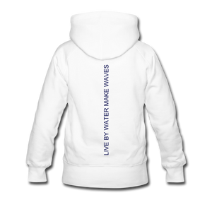 Open image in slideshow, Lake Life-Live by Water Women's Hoodie - white