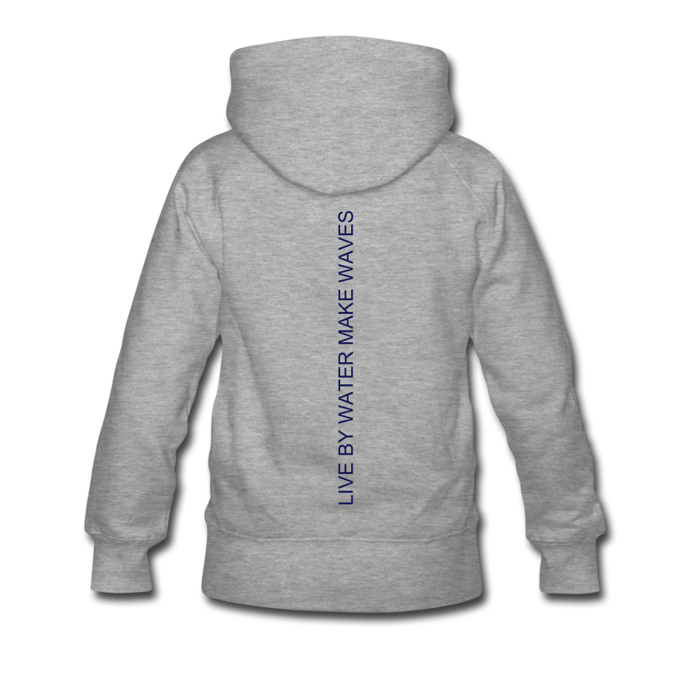 Lake Life-Live by Water Women's Hoodie - heather gray