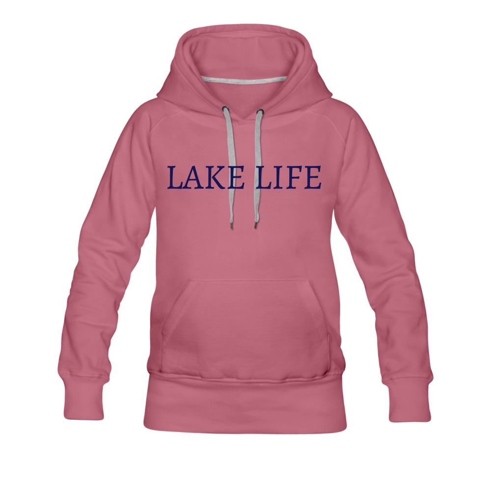 Lake Life-Live by Water Women's Hoodie - mauve
