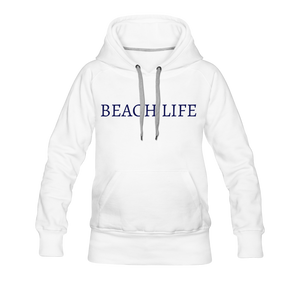 Open image in slideshow, Beach Life-Live by Water 2-sided Women's Hoodie - white