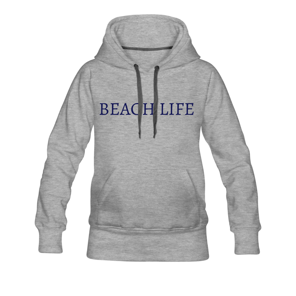 Beach Life-Live by Water 2-sided Women's Hoodie - heather gray