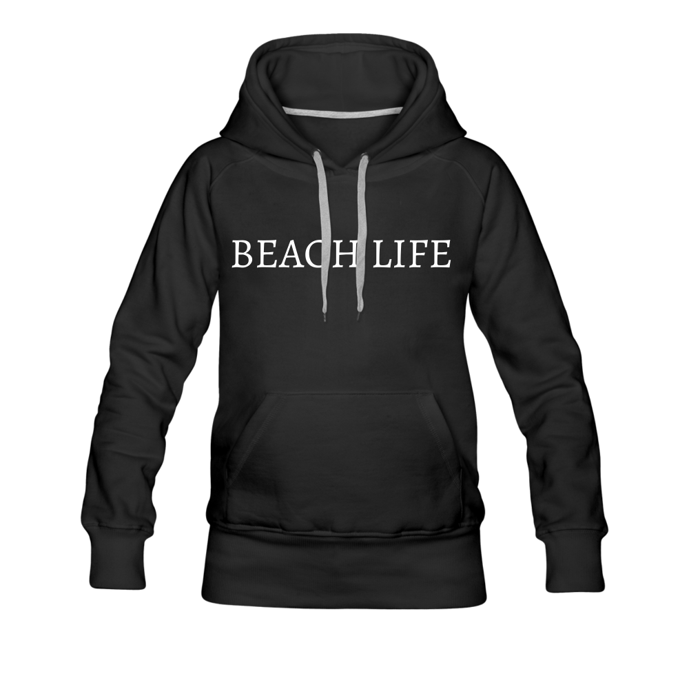 Beach Life-Live by Water 2-sided Women's Hoodie - black