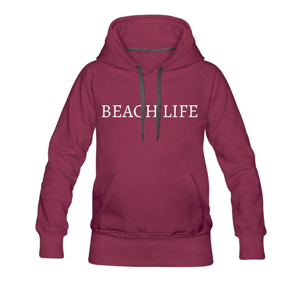 Beach Life-Live by Water 2-sided Women's Hoodie - burgundy