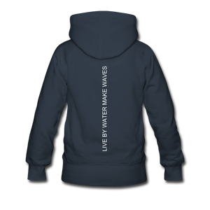 Open image in slideshow, Beach Life-Live by Water 2-sided Women's Hoodie - navy