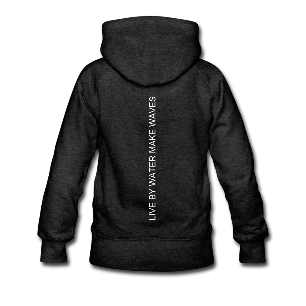 Beach Life-Live by Water 2-sided Women's Hoodie - charcoal gray
