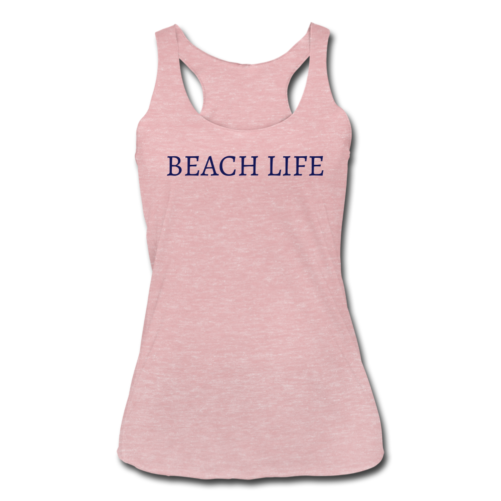 Women's Tri-Blend Racerback Tank - heather dusty rose